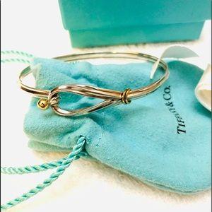 Vintage Tiffany 925/750-18k & Silver Hook Bracelet